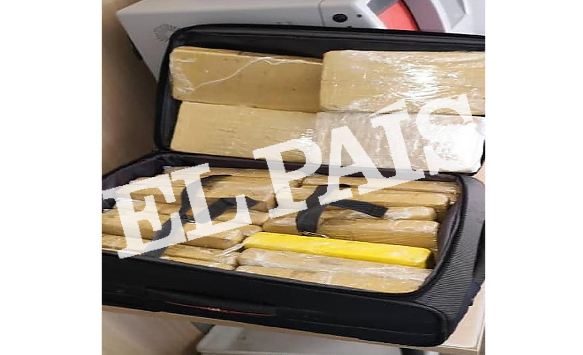 La maleta con cocaína