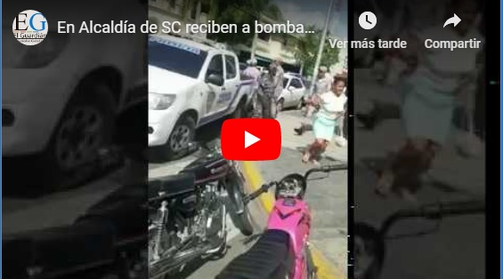 En Alcaldía reciben a bombazos a estudiantes de San Cristóbal