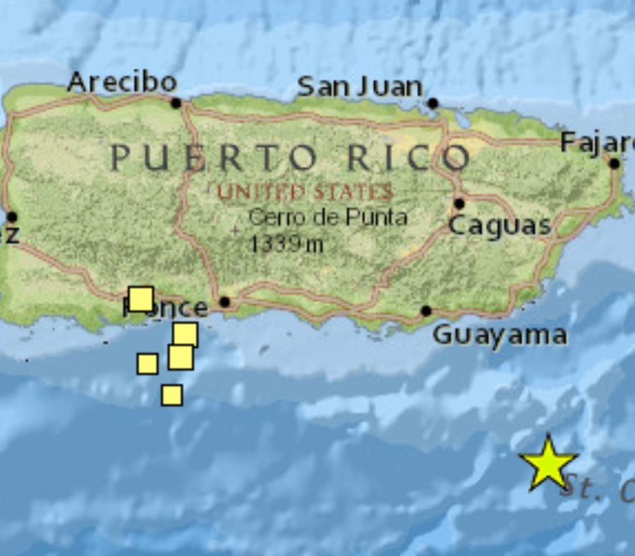 Un tercer sismo de 5.9 sacude a Puerto Rico esta mañana