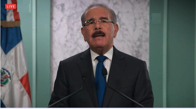 Medina anuncia aumento tarjeta solidaridad a RD$ 5 mil y comida casa por casa